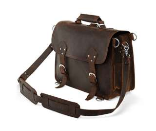 Classic Leather Briefcase Messenger Laptop Bag Backpack Satchel Large