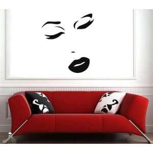 Wall MURAL Vinyl Art Design Sticker GIRL FACE S 2644