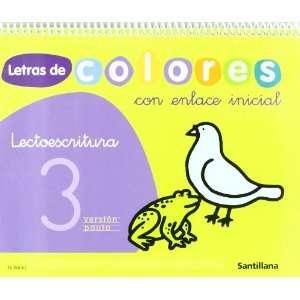 LETRAS DE COLORES 3 CON ENLACE INICIAL CUAD LECTOESCRITURA