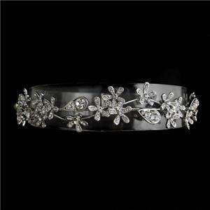 Flower Drop Head Band Tiara Swarovski Crystal Crown VTG Style