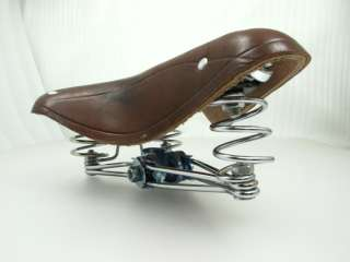 P4 VINTAGE STYLE ROAD BIKE BICYCLE REAL LEATHER SEAT SADDLE