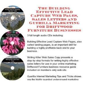 Capture Web Pages, Sales Letters for Driftwood Furniture Businesses