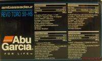 ABU GARCIA AMBASSADEUR REVO TORO 50 HS BAITCAST REEL 036282029392