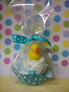 cute DUCK diaper cupcake, baby shower favor/decoration