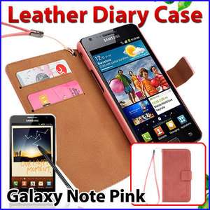 Samsung Galaxy Note i9220 N7000 Cell Phone Leather Diary Case Cover