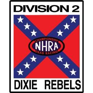 NHRA Championship Drag Racing Dixie Rebel Division 2 Car