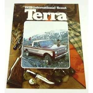 1979 79 International Scout TERRA Truck BROCHURE Rallye