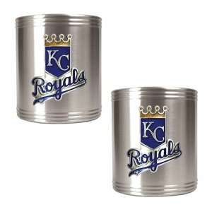 Kansas City Royals 2pc Stainless Steel Can Holder Set