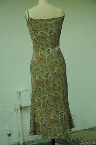 VINTAGE PLANET FUNK CHIC PAISLEY CAMISOLE DRESS MEDIUM