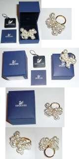 150 Authentic Daniel Swarovski Pearl Cluster Ring S 6