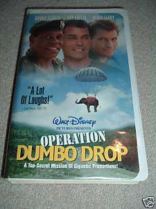 WALT DISNEY OPERATION DUMBO DROP VHS TAPE DANNY GLOVER