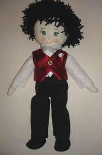 Paige boy rag doll Groom rag doll 15 high boy rag doll