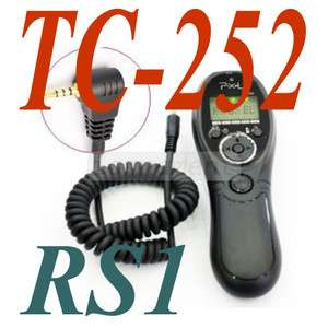 Pixel TC 252/RS1 cable Timer Remote Control for Panasonic GF1 GH1 GH2