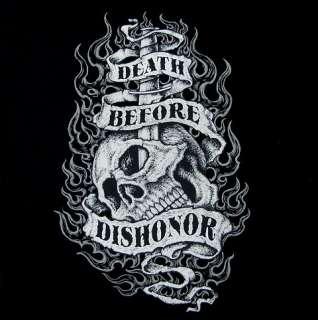DEATH BEFORE DISHONOR SKULL SWEATSHIRT T SHIRT WS502