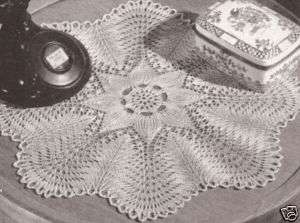 FREE KNITTING PATTERN LACE DOILY - VERY SIMPLE FREE ...