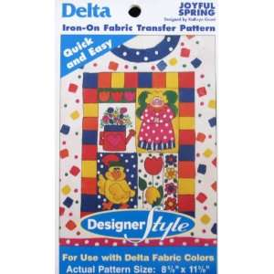 Delta Iron On Fabric Transfer Pattern Joyful Spring Arts, Crafts