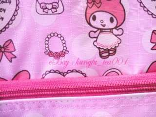 My Melody Rolling Duffel Travel Suitcase Luggage Gym Bag Shopping Cart