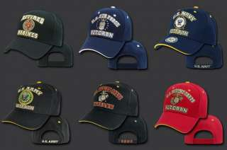 Black US Army Military Combat Retired Veteran Vet USA Baseball Cap