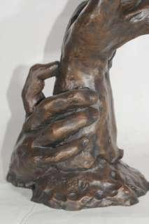 French Bronze Rodin Hand Sculpture Art