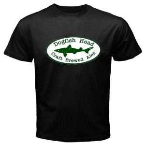 DogFish Head Beer Logo New Black T shirt Size L