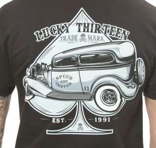 Lucky 13 Dillinger Car Roadster T Shirt Hot Rod Shirt