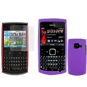 iNcido Brand Nokia X2 01 Combo Rubber Purple Protective Case Faceplate