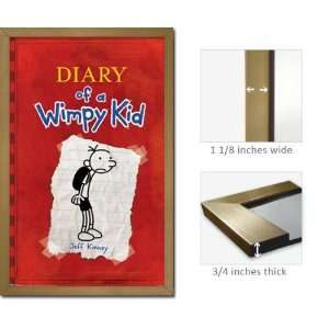 Gold Framed Diary Wimpy Kid Poster Jeff Kinney Fr6396