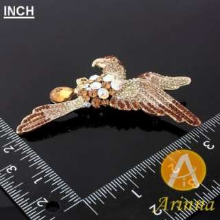 ARINNA Swarovski Crystals eagle girl Fashion Brooch Pin