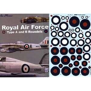 RAF Royal Air Force Type A/B Roundels (1/72 decals): Toys & Games