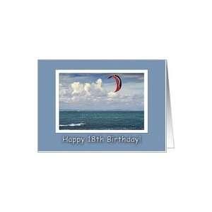 Kite surfing   Happy 18th Birthday Card: Toys & Games