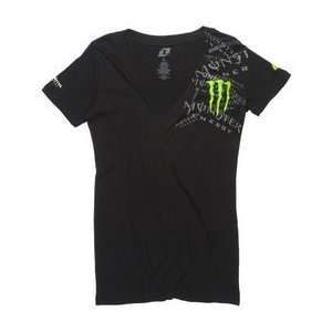MONSTER ONE INDUSTRIES GIRLS BRAGG TSHIRT BLACK