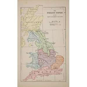 1883 Color Map English Empire 900 1100 England Scotland