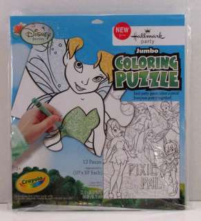 Disney Fairies Tinker Bell Party Jumbo Coloring Puzzle