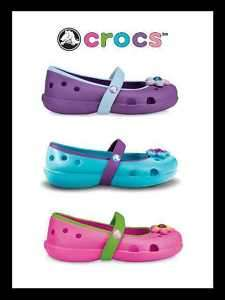 New CROCS Keeley Flat Fuchsia/Parrot Green Infant Toddler Girls C4