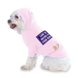 Hooded (Hoody) T Shirt with pocket for your Dog or Cat Size XS Lt Pink