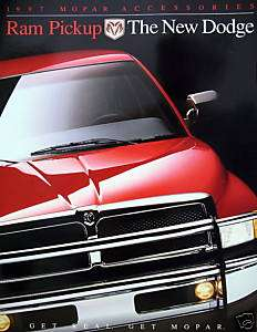 1997 Dodge Ram pickup truck Accesories brochure