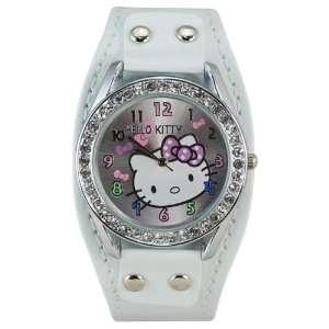 com Miss Peggy Jos   Hello Kittys KTw09 Cuff Quartz Movement Watch