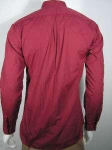 80s Wayne Scott Burgundy Red Wing Tip Collar Tuxedo Dress Shirt Medium
