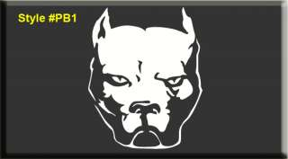 PITBULL PIT BULL DOG VINYL WINDOW DECAL STICKER blue k9