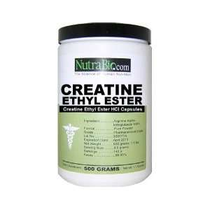 NutraBio Creatine Ethyl Ester Powder   500 Grams Health