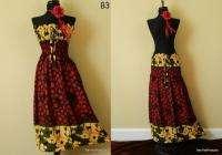 Rayon Polka Dot Floral Print Boho Sun Dress Skirt New