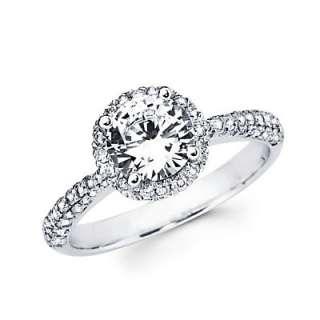 18k White Gold Diamond Engagement Ring Semi Mounting D