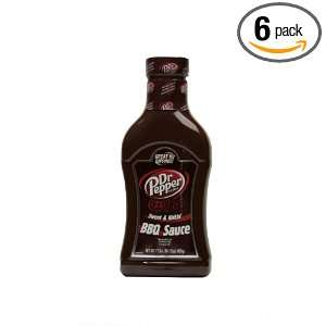 Dr. Pepper Sweet & Kickin Barbecue Sauce, 17.5 Ounce Bottle (Pack of