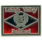 LV RAILWAY LEHIGH VALLEY RAILROAD LOGO PIN BADGE