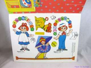 Raggedy Ann & Andy Paper Doll Dolls ~ Circus Play Day