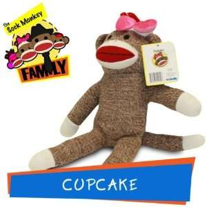 Cupcake from The Sock Monkey Family Stuffed Animal Toys & Games