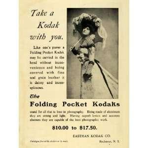 1901 Ad Eastman Kodak Co Folding Pocket Camera Vintage