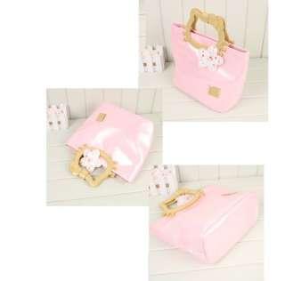 Ladys HANDBAG kitty Bowknot Purses white/black/pink/purple