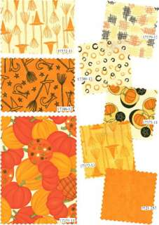 PUMPKINS GONE WILD Moda CHARMS 5 Fabric Quilt Squares