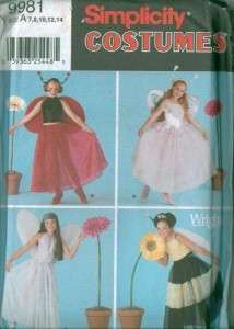Simplicity Kids Halloween Costume Sewing Pattern Uncut Boys Girls